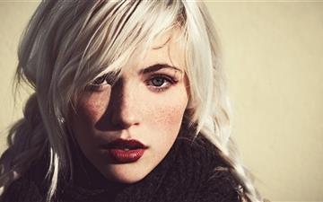 Girl White Hair Mac wallpaper