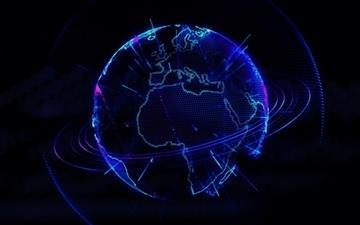 Holo Earth Mac wallpaper