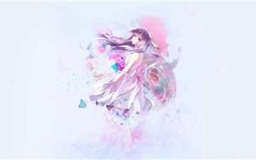 Pastel Anime Mac wallpaper