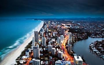 Golden City Coast Mac wallpaper