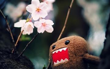 Domo Kun And Tree Blossoms Mac wallpaper