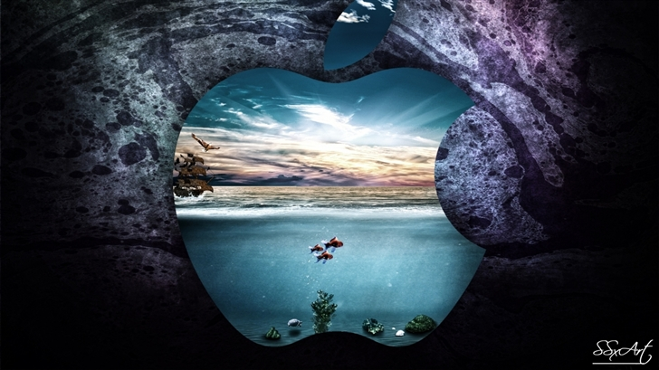 Apple Underwater Mac Wallpaper