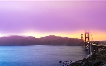 Golden gate Sunset MacBook Air wallpaper