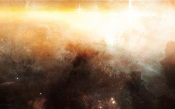 Golden Nebula Mac wallpaper