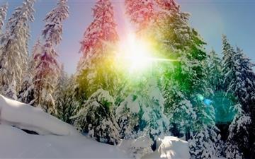 Snow Rainbow Circle Mac wallpaper