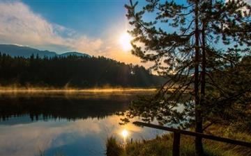 Sun Rise Carinthia Austria Egelsee All Mac wallpaper