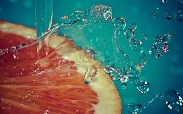 Water Orange Mac wallpaper