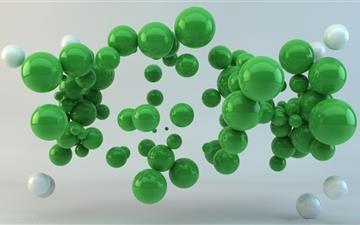 Green Balls Mac wallpaper