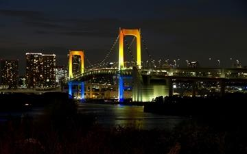 Tokyo Rainbow Bridge All Mac wallpaper