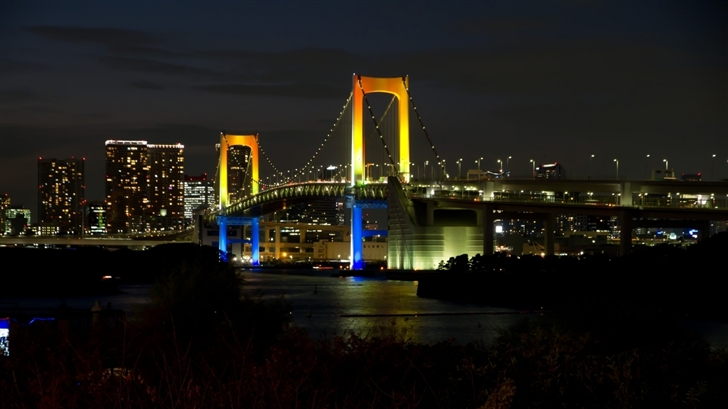 Tokyo Rainbow Bridge Mac Wallpaper