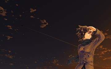Anime Girl Evening Mac wallpaper