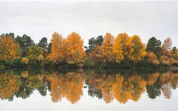 Autumn At The River Mac wallpaper