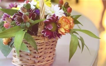 Basket With Flowers Mac wallpaper