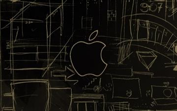 Apple Logo Sketch MacBook Air wallpaper