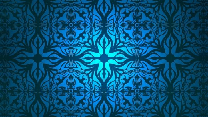 Vintage Blue Pattern Mac Wallpaper