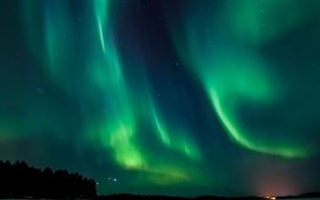 Aurora Borealis Sweden Mac wallpaper