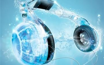 Blue Headphones Mac wallpaper