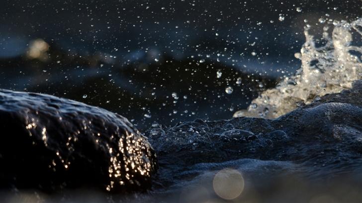 Dark Splash Mac Wallpaper