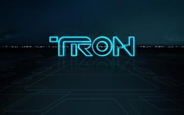 Tron Logo All Mac wallpaper