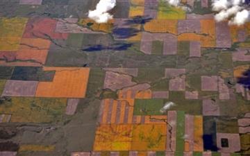 Aerial View Near Coutts Alberta Mac wallpaper