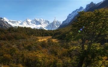 Andes Mountains Patagonia Argentina Mac wallpaper