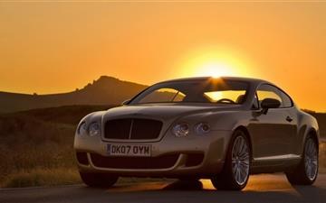Bentley Continental Sunset Mac wallpaper