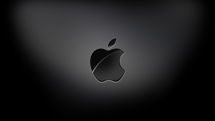 Aapple Black Background Mac Wallpaper