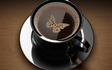 Butterfly Coffee Mac wallpaper