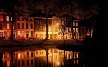 Foggy Evening Utrecht Mac wallpaper