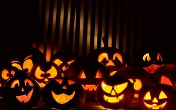 Halloween Pumpkins In The Dark All Mac wallpaper