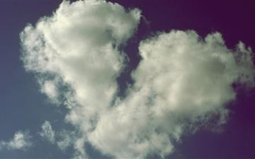 Broken Heart Shaped Cloud Mac wallpaper