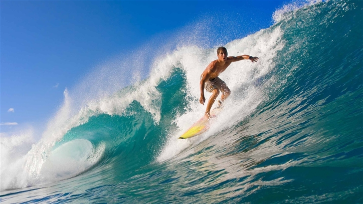 Riding The Wave Mac Wallpaper
