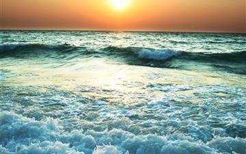Sunset Near Sea Mac wallpaper
