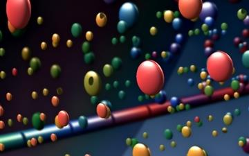 Happy Colorful Balls Mac wallpaper