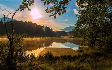 Sun Rise Carinthia Austria Egelsee Mac wallpaper