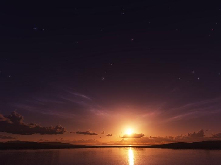 Sea Sunset Mac Wallpaper