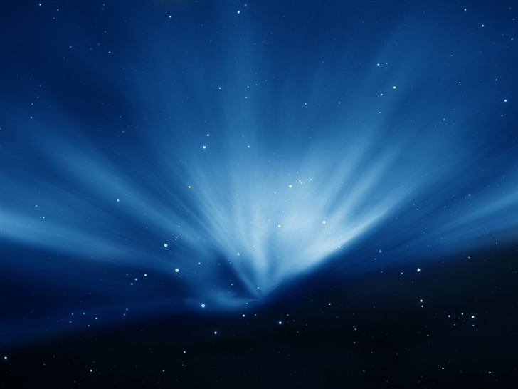 Apple Sky Blue Aurora Mac Wallpaper