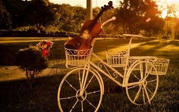 Violin On Bike All Mac wallpaper