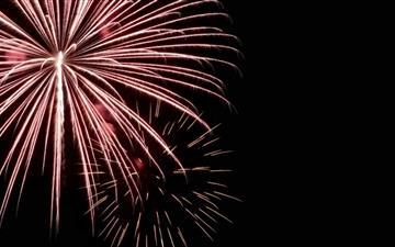Red Fireworks Mac wallpaper