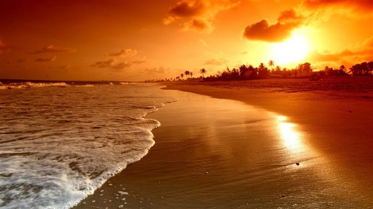 Beach Sunrise Mac Wallpaper