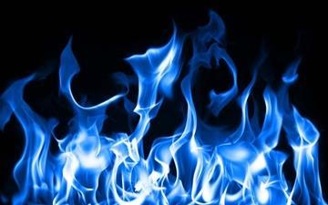 Blue Fire Mac wallpaper