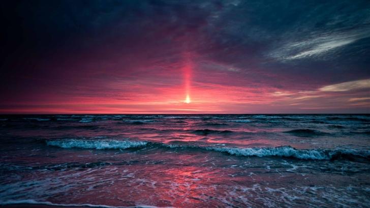 Pinkish Sunset Mac Wallpaper
