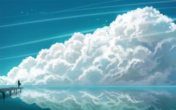 Sky Clouds MacBook Air wallpaper