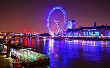 London Eye At Night  Mac wallpaper