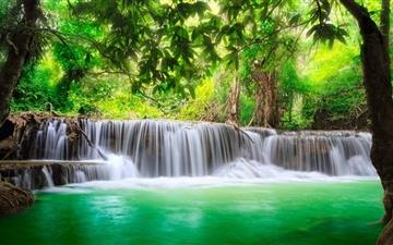 Green Tropical Waterfall Mac wallpaper