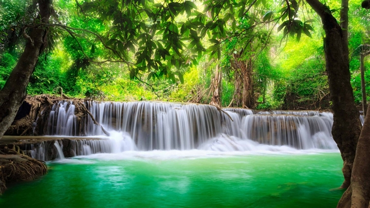 Green Tropical Waterfall Mac Wallpaper