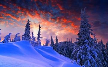 Winter Christmas MacBook Air wallpaper