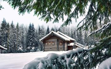 Mountain Retreat Winter All Mac wallpaper