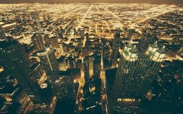 Chicago Night Lights Mac wallpaper
