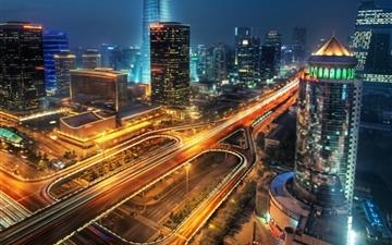 Beijing At Night China Mac wallpaper